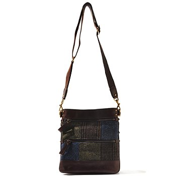 710-004 - Brooks Brothers® Plaid Wool Cross Body Bag