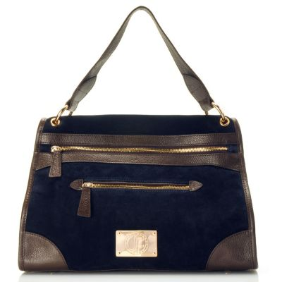 "710-015 - Jack French London Suede Leather ""Curzon"" Satchel"