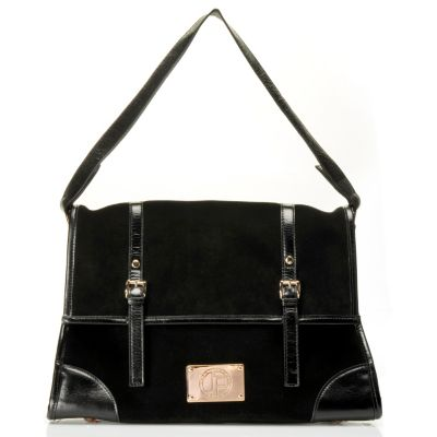 "710-017 - Jack French London Suede & Leather ""Montpellier"" Shoulder Bag"
