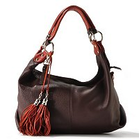 Buxton Lucca Collection Tassel Shoulder Bag