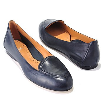 710-032 - Brooks Brothers® Smooth Leather Moccasin Ballet Flats
