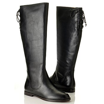 710-036 - Brooks Brothers® Leather Lace-up Back Tall Boots