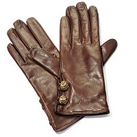 Brooks Brothers Cashmere Lined Button Glove
