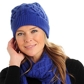 710-064 - Brooks Brothers® Women's Cashmere & Wool Cable Knit Hat