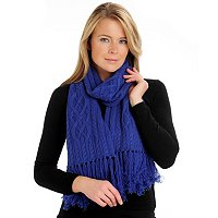 Brooks Brothers Cashmere & Wool Cable Knit Scarf