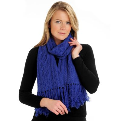 710-065 - Brooks Brothers® Women's Fringed Cashmere & Wool Cable Knit Scarf
