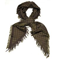 Brooks Brothers Houndstooth Wool Kite Scarf