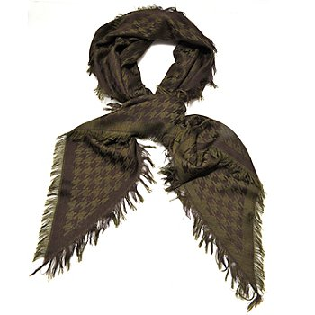 710-071 - Brooks Brothers® Houndstooth Fringed Wool Kite Scarf