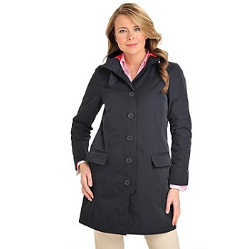 710-096 - Brooks Brothers® Water Repellent Button Down Hooded Coat