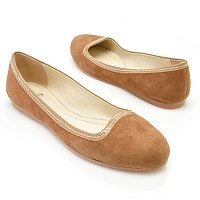 Brooks Brothers Kid Suede & Patent Ballet Flat