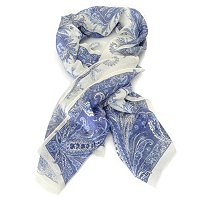 Brooks Brothers Silk Pasisley Floral Oblong Scarf