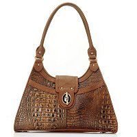 HEATHER CROCO EMBO MATTE LEATHER 3 COMP BAG