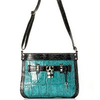 RACHEL JUMBO CROCO EMBO CROSSBODY
