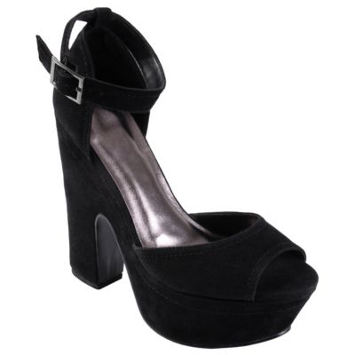710-241 - Hailey Jeans Co. Women's Peep Toe Ankle Strap Platform Heels