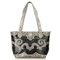 American West Zip Tote w/Applique Swirls