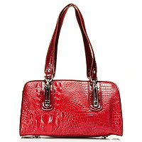 Maid Claire Melissa Croco Embossed Leather Satchel