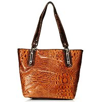 Madi Claire Melissa Croco Embossed Leather Tote