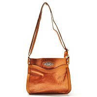 Madi Claire Kimberly Croco Embossed Leather Crossbody w/ Ornament