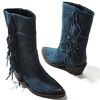 710-312 - Carlos by Carlos Santana ''Lafayette'' Fringe Detailed Leather Boots
