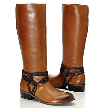 710-314 - Carlos by Carlos Santana ''Wellington'' Rope Detailed Leather Boots