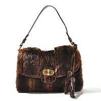 Sondra Roberts Fur/Croco Flap Bag