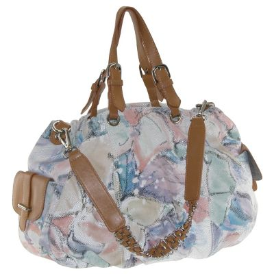 710-354 - Buxton® Heather Collection Leather Floral Satchel Handbag
