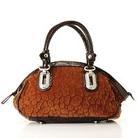 Madi Claire Ellie Faux Animal Tote Satchel with Bling Hardware