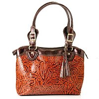 Madi Claire Abigail Tooled Embossed Leather Tote
