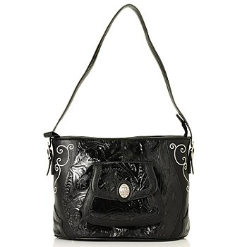 710-427 - Madi Claire ''Savannah'' Embroidered & Tooled Leather Shoulder Bag