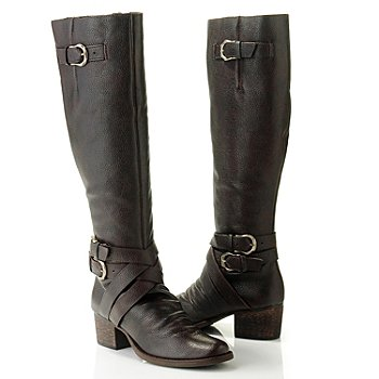 710-502 - Matisse® Leather ''Faulkner'' Buckle Detailed Riding Boots