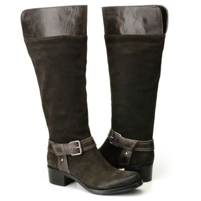 "710-511 - Matisse® ""Utah"" Suede Leather Harness Detailed  Riding Boots"