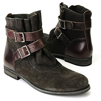 710-512 - Matisse® Suede & Leather ''Hunter'' Buckled Ankle Boots
