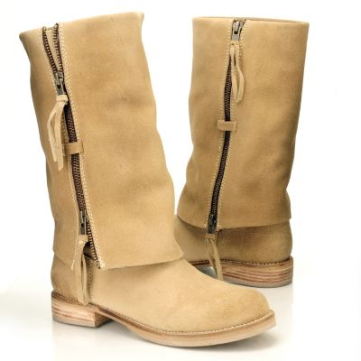 "710-513 - Matisse Suede Leather ""Duty"" Zipper Cuffed Boots"