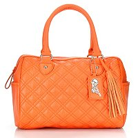 "Carlos Santana ""Maria Maria"" Quilted Barrel Satchel with Double Handles"