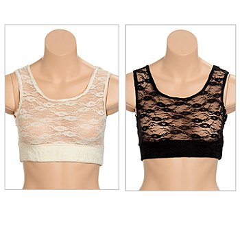 710-556 - Halftee™ Set of Two Layering Lace Tanks