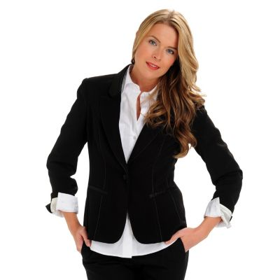 710-570 - WD.NY One-Button Two-Pocket Tuxedo Piped Jacket