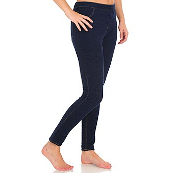 710-590 - WD.NY Stretch Knit Two-Pocket Jean Leggings
