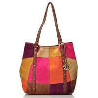 Red by Marc Ecko Patchwork Shoulder Tote