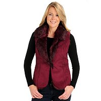 Kate & Mallory Reversible Faux Fur Vest