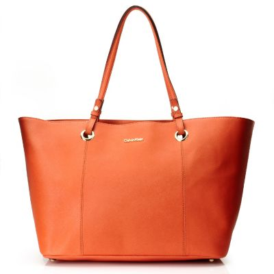 710-686 - Calvin Klein Handbags Saffiano Leather East/West Large Tote