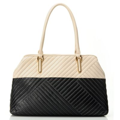 710-690 - Calvin Klein Handbags Quilted Leather Tote