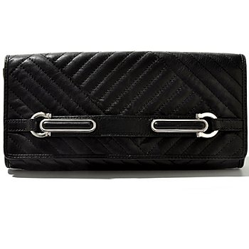 710-692 - Calvin Klein Handbags Quilted Leather Clutch