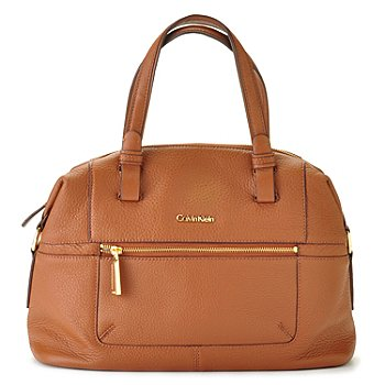 710-693 - Calvin Klein Handbags Pebbled Leather Convertible Satchel