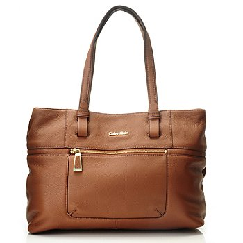 710-694 - Calvin Klein Handbags Pebbled Leather Convertible Tote