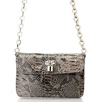Sophisticated Style Chain-Linked Snake Print Crossbody