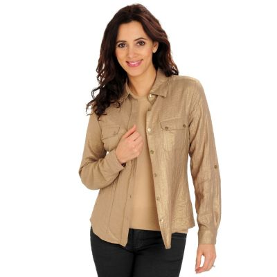 710-718 - Glitterscape Long Sleeved Two-Pocket Utility Shirt