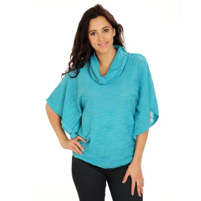 710-752 - Kate & Mallory Textured Knit Dolman Sleeved Cowl Neck Top