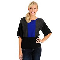 Kate & Mallory Colorblock Sweater With Banded Bottom