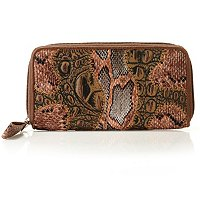 Madi Claire Patchwork Zip Around Wallet