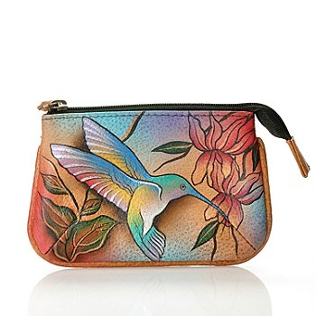 710-775 - Anuschka Hand Painted Leather Coin Purse